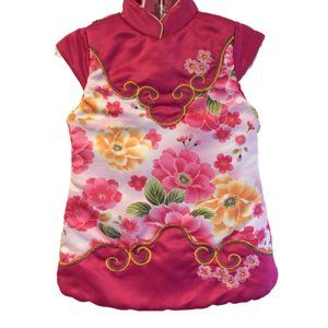 2/$15  Pink Floral Asian Dress